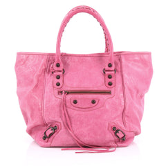 Balenciaga Sunday Tote Classic Studs Leather Small Pink