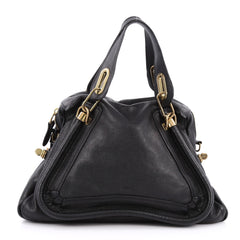 Chloe Paraty Top Handle Bag Leather Medium Black 1977908
