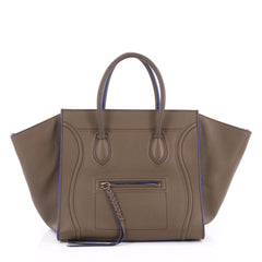 Celine Phantom Handbag Grainy Leather Medium Brown 1982502