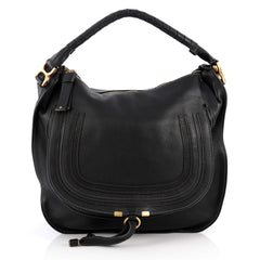 Chloe Marcie Shoulder Bag Leather Large Black 1982801