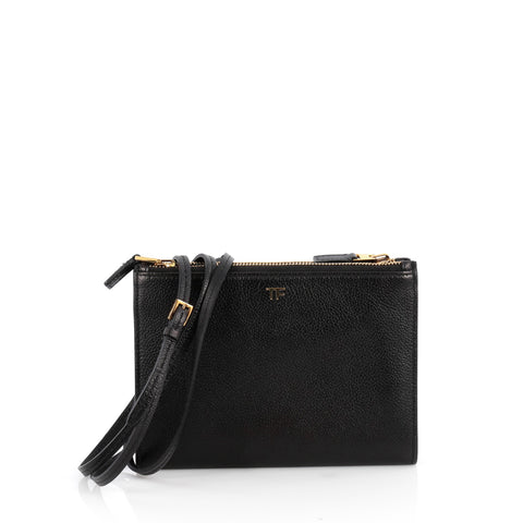 Buy Tom Ford Triple Zip Crossbody Bag Leather Black 1982803 – Rebag