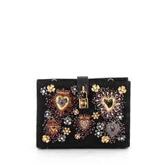 Dolce & Gabbana Carmen Shoulder Bag Embellished Brocade Black 1987701