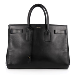 Saint Laurent Sac De Jour Handbag Leather Large Black 1994801