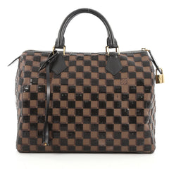 Louis Vuitton Speedy Handbag Damier Paillettes 30 Brown