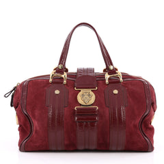 Gucci Aviatrix Satchel Suede Large Red