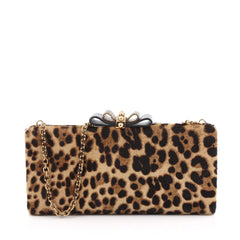 Christian Louboutin Sweet Charity Box Clutch Pony Hair Brown 1995601