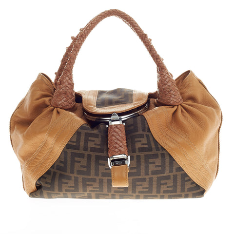 8f814be782a8 Buy Fendi Spy Bag Zucca Canvas and Leather Medium Brown 236901 – Rebag