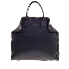 Alexander McQueen De Manta Tote Leather Large