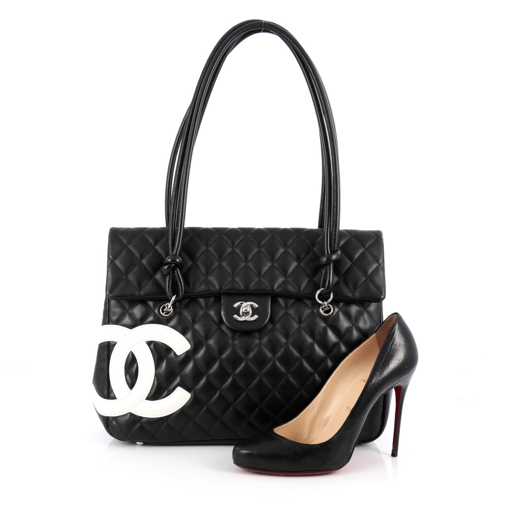 c9c0e6806d36 Chanel Cambon Flap Tote. Buy Chanel Cambon Flap Tote Quilted Leather Large  Black ...