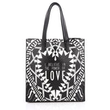 Givenchy Power of Love Tote Printed Leather Large Black 2003002