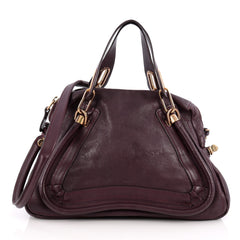 Chloe Paraty Top Handle Bag Leather Medium Purple 2008902