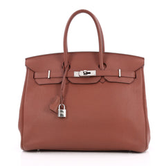 Hermes Birkin Handbag Red Togo with Palladium Hardware 2010503