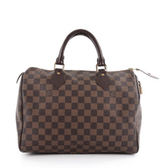 Louis Vuitton Speedy Handbag Damier 30 Brown