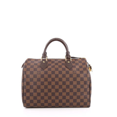 Louis Vuitton Speedy Handbag Damier 30 Brown 2014801