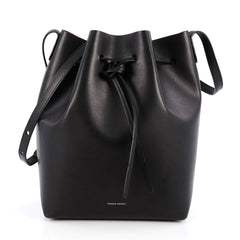 Mansur Gavriel Bucket Bag Leather Large Black 2015301