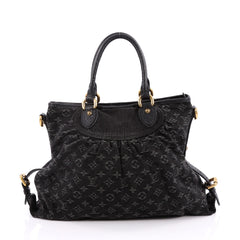 Louis Vuitton Neo Cabby Handbag Denim GM Black 2015402