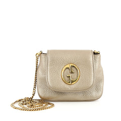 Gucci 1973 Crossbody Bag Leather Small Gold