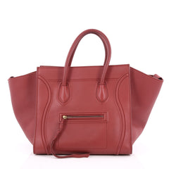 Celine Phantom Handbag Grainy Leather Medium Red 2024301