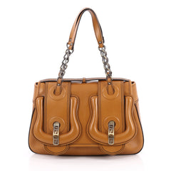 Fendi B. Bag Leather Medium Brown 2024501