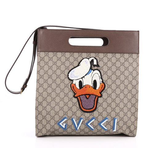 245193c7e34 Buy Gucci Donald Duck Soft Tote Embroidered GG Coated Canvas 2025604 – Rebag
