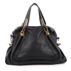 Chloe Paraty Top Handle Bag Leather Medium Black 2025902