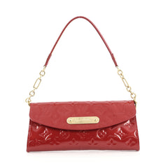 Louis Vuitton Sunset Boulevard Handbag Monogram Vernis Red