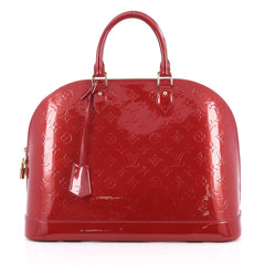 Louis Vuitton Alma Handbag Monogram Vernis GM Red 2028202