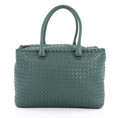 Bottega Veneta Brick Bag Intrecciato Nappa Medium Blue 2028701