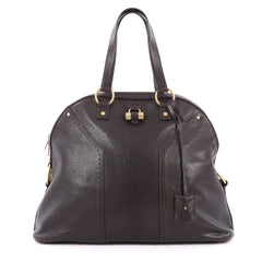 aint Laurent Muse Shoulder Bag Leather Oversized Brown 2028801