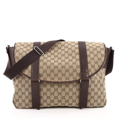 Gucci Belted Messenger GG Canvas Large Brown 2028902