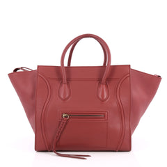 Celine Phantom Handbag Grainy Leather Medium Red 2033501