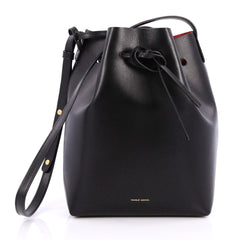Mansur Gavriel Bucket Bag Leather Large Black 2038501