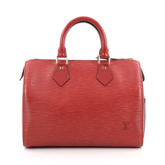 Louis Vuitton Speedy Handbag Epi Leather 25 Red