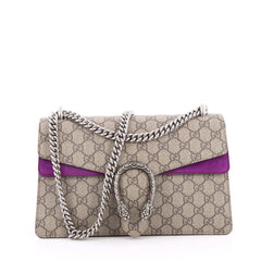 Gucci Dionysus Handbag GG Coated Canvas Small Brown 2042201