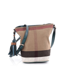 Burberry Ashby Handbag House Check Canvas Mini Brown