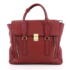 3.1 Phillip Lim Pashli Satchel Leather Large Red 2044901