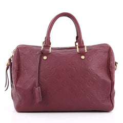 Louis Vuitton Speedy Bandouliere Bag Monogram Empreinte Leather 30 Purple