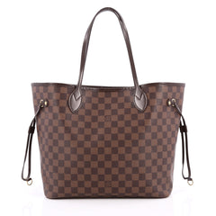Louis Vuitton Neverfull NM Tote Damier MM Brown 2046401