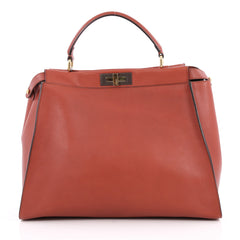 Fendi Peekaboo Handbag Leather Large Red 2047701