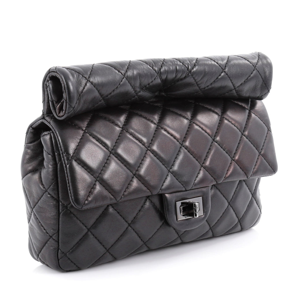 ff620648290d Buy Chanel Reissue Roll Clutch Quilted Lambskin Medium Black 2048701 ...