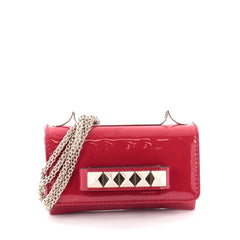 Valentino Va Va Voom Clutch Patent Small Red 2049402
