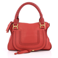Chloe Marcie Satchel Leather Medium Red 2051503