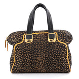 Fendi Chameleon Convertible Satchel Jacquard Mini Black