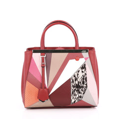 Fendi 2Jours Handbag Mixed Media Petite Red 2055901