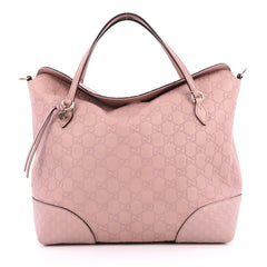 Gucci Bree Convertible Top Handle Bag Guccissima Leather Pink 2056302