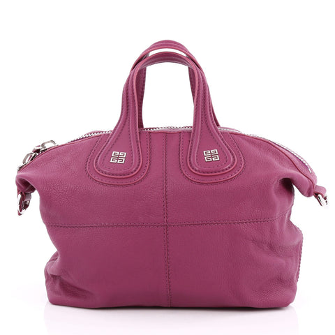 Buy Givenchy Nightingale Satchel Leather Small Purple 2057202 – Rebag 9999175fd5739