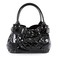 Burberry Beaton Bag Quilted Patent Large Black 2057305