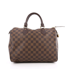 Louis Vuitton Speedy Handbag Damier 30 Brown 2059502