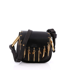 Chloe Charm Hudson Leather Mini Black 2061306