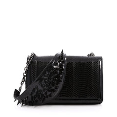 Christian Louboutin Artemis Shoulder Bag Spiked Black 2065101